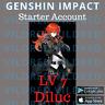Europe Server Genshin Impact AR 7 Diluc Starter Account