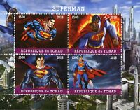 Chad 2018 MNH Superman 4v M/S Superheroes DC Comics Stamps
