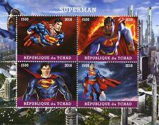 Chad 2018 MNH Superman 4v M/S Superheroes DC Comics Stamps