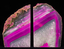 15Lbs Agate Bookends Geode Crystal Polished Quartz Druzy Brazil Specimen