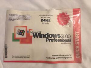 Microsoft Windows 2000 Professional WK2 SP2 Reinstallation CD for DELL New