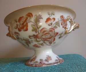 Wedgwood Pearlware Napier Footed Punch Bowl 1840-60 Double Handles