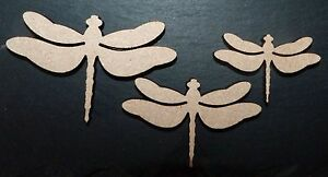 laser cut DRAGONFLY shapes Embellishments mdf Craft 40,50,60 mm