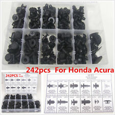 242x Car Push Pin Rivet Trim Clip Panel Interior Moulding Assort For Honda Acura