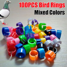 100PCS Bird Rings Leg Bands For Dove Chicken Pigeon Parrot  Poultry Clip Rings