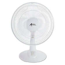 "Alera 12"" 3-Speed Oscillating Desk Fan, Plastic, White FAN122"