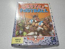 .::. BRUTAL FOOTBALL sealed for Commodore Amiga CD32 Sealed BONUS big box