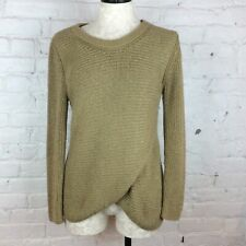 Massimo Dutti Gold Knitted Sweater | S