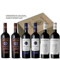 Guicciardini Clllection Vino Rosso Castello di Poppiano 6 bottiglie cassa legno