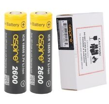 2 x Genuine Aspire ICR 3.7 35 AMP Li-ion 40A 18650 2600mAh Rechargeable Battery