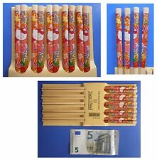 Hello Kitty, 12 bacchette in legno bastoncini cinesi Year Well cm 24