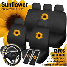 Universal Car Truck Seat Cover Cotton Cushion Protector Breathable Kit Sunflower