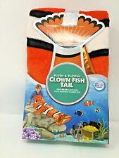"Clown Fishtail Blanket Throw Wrap Orange Sequins 22 X 55"" Child"