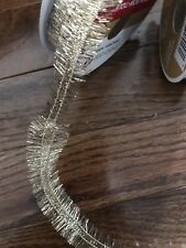 Ribbon Gold Feather