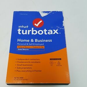 Intuit TurboTax Home & Business Federal E-File + State 2020 CD NEW SEALED AUTHEN