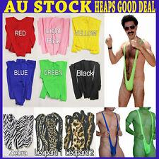 Sexy Borat Mankini Costume Swimsuit Mens Swimwear Thong Sexy Party Wear Colorful
