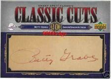 2007 SWEET SPOT CLASSIC CUTS AUTO: BETTY GRABLE #1/1 AUTOGRAPH SEX SYMBOL