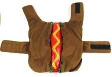 Hot Dog Costume Size Small Dog Canine Outfit with Mustard Squiggle with Sequins