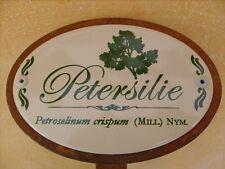 Kräuterschild Pflanzschild Emaille Emaille Petersilie 30cm