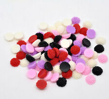 20 Mixed Color Daisy Chrysanthemum Resin Acrylic Flower Cabochons 10mm cab0153