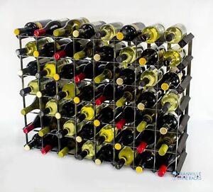 Cranville wine rack storage 56 bottle Black wood and metal assembled