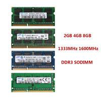 Für SAMSUNG 2GB 4GB 8GB PC3 DDR3 1333MHz 1600MHz 204Pin SODIMM Laptop Memory ADE