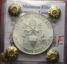 NL* Vaticano Giovanni Paolo II 500 Lire Argento 1983/84 AS FDC Perizia Filisina