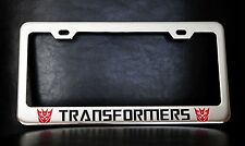 TRANSFORMERS DECEPTICONS License Plate Frame, Custom Made of Chrome Plated Metal