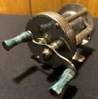 Vtg Antique Rare UTICA Caster Reel Fishing Reel Model B No 400 Marbled Bakelite