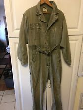 Vintage 1940 - 1950s Wearwell Herringbone HBT Large Coveralls Overall