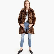 026d0aa2ec NWT J Crew JCrew Faux Fur Leopard Print Coat Spotted G9553 Jacket Large