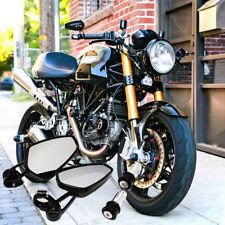 "CNC BILLET UNIVERSAL MOTORCYCLE 22MM 7/8"" BAR END SIDE MIRRORS MOTORBIKE/BIKE US"