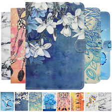 Lightweight Pattern Leather Flip Cover Smart Case For iPad & Samsung Tab A Tab E