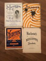 4 Vintage Music Scores Sheet Music – Yearning , It's Got To Be Done, Splashes