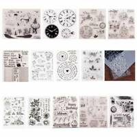 Christmas Transparent Silicone Clear Stamp Cling Diary Crafts DIY Scrapbook D1V1