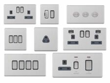Brushed Standard Wall Socket Home Electrical Fittings
