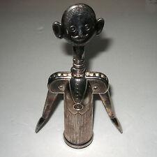 Vintage Pierre The Sommelier Silverplate Wine Corkscrew Figural Opener
