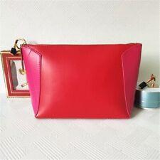 Lancome Fashion Christmas Red PU Leather Make Up Cosmetic Novelty Travel Bag