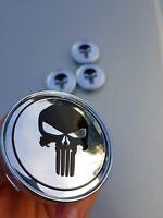 4x Punisher 60mm Felgendeckel Nabendeckel Nabenkappen Alufelgendeckel 3D