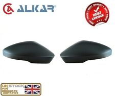 SKODA OCTAVIA (5E) 2013-2018 WING MIRROR COVER CAP BLACK RIGHT & LEFT SET