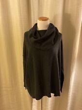 JOIE Navy Blue Cowl Neck Sweater nylon wool Cashmere blend Dolman Medium M
