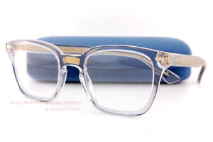 Brand New GUCCI Eyeglass Frames GG 0184/O  005 Transparent Grey For Men Women