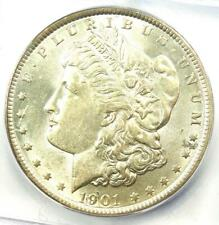 1901-P Morgan Silver Dollar $1 1901 (Doubled Ear) - ICG AU58 - $1,150 Value!