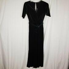 Gibson Black Velvet Wrap Jumpsuit