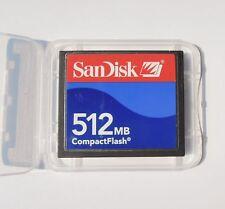 Sandisk 512MB CF CompactFlash Card memory card 512MB SDCFB/J-512 Genuine