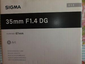 SIGMA ART DG HSM  1,4/35 mm für SONY MINOLTA A