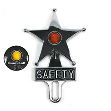 CHEVY FORD Red Dot Vintage Safety Star Lighted License Plate Topper,Bomber, Sled