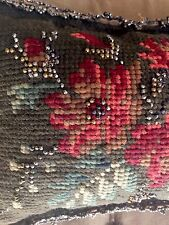 Antique Victorian Beaded Pin Cushion Sewing, Needlepoint, Needles, English