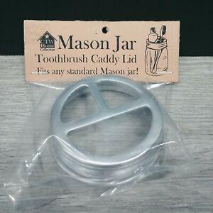 Primitive Rustic Aluminum Mason Jar Lid - Toothbrush Caddy Holder Lid - NEW