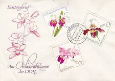 East Germany 1968 Orchids FDC Set of 2 Unadressed VGC